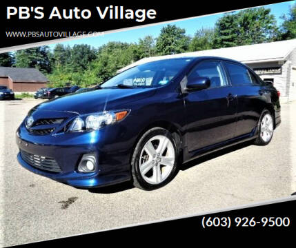 2013 Toyota Corolla for sale at PB'S Auto Village in Hampton Falls NH