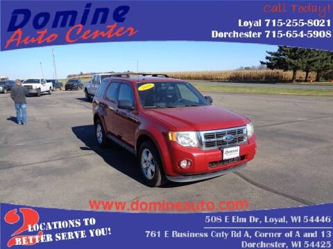 2011 Ford Escape for sale at Domine Auto Center in Loyal WI