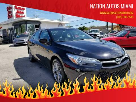 2017 Toyota Camry for sale at Nation Autos Miami in Hialeah FL
