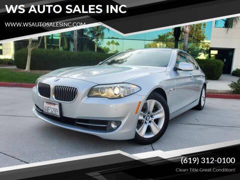 2012 BMW 5 Series for sale at WS AUTO SALES INC in El Cajon CA