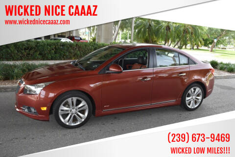 2013 Chevrolet Cruze for sale at WICKED NICE CAAAZ in Cape Coral FL