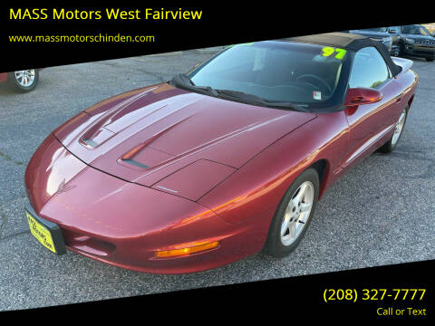1997 Pontiac Firebird for sale at MASS Motors West Fairview in Boise ID