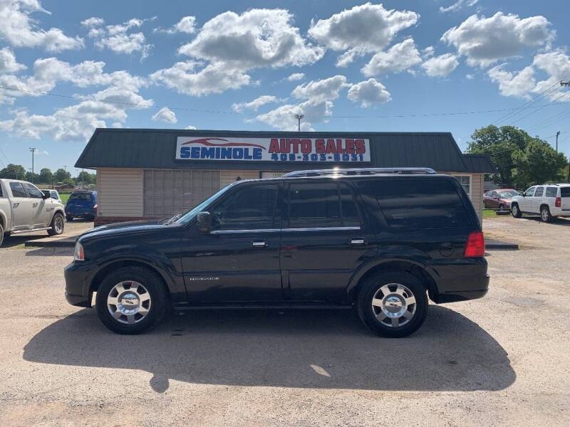 2006 Lincoln Navigator for sale at Seminole Auto Sales in Seminole OK
