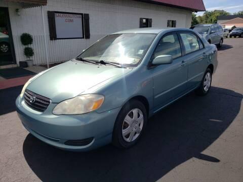 2007 Toyota Corolla for sale at Salem Auto Sales in Salem VA
