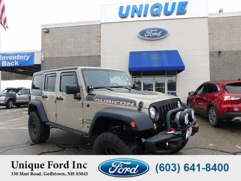 2018 Jeep Wrangler JK Unlimited for sale at Unique Motors of Chicopee - Unique Ford in Goffstown NH