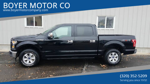 2017 Ford F-150 for sale at BOYER MOTOR CO in Sauk Centre MN