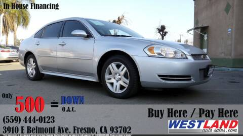 2013 Chevrolet Impala for sale at Westland Auto Sales in Fresno CA