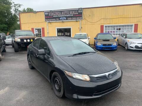2012 Honda Civic for sale at Virginia Auto Mall in Woodford VA