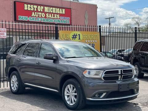 2014 Dodge Durango for sale at Best of Michigan Auto Sales in Detroit MI
