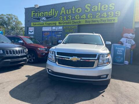 2016 Chevrolet Tahoe for sale at Friendly Auto Sales in Detroit MI