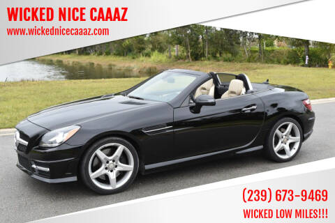 2014 Mercedes-Benz SLK for sale at WICKED NICE CAAAZ in Cape Coral FL