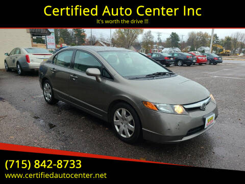 2007 Honda Civic for sale at Certified Auto Center Inc in Wausau WI