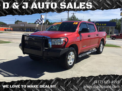 2013 Toyota Tundra for sale at D & J AUTO SALES in Joplin MO