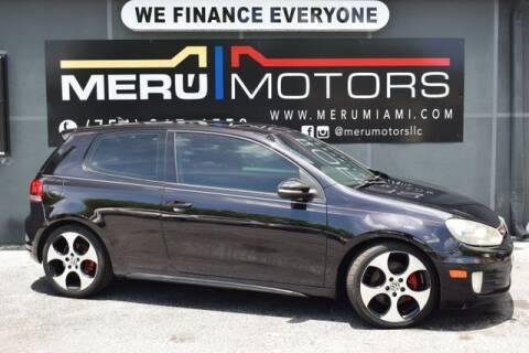 2010 Volkswagen GTI for sale at Meru Motors in Hollywood FL