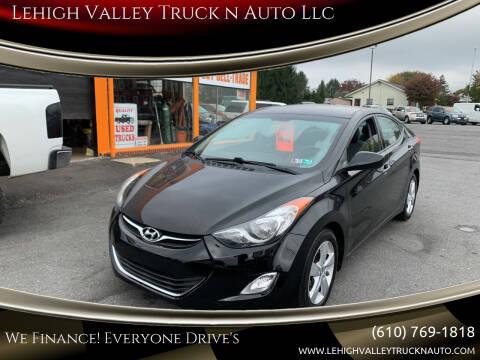 2013 Hyundai Elantra for sale at Lehigh Valley Truck n Auto LLC. in Schnecksville PA