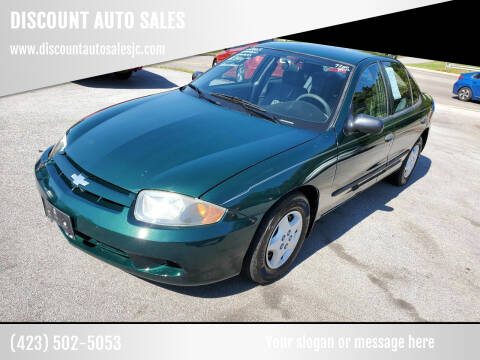 2003 Chevrolet Cavalier for sale at DISCOUNT AUTO SALES in Johnson City TN