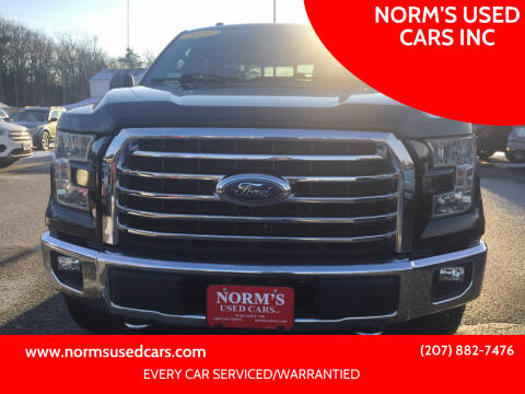 2016 Ford F-150 for sale at NORM'S USED CARS INC in Wiscasset ME
