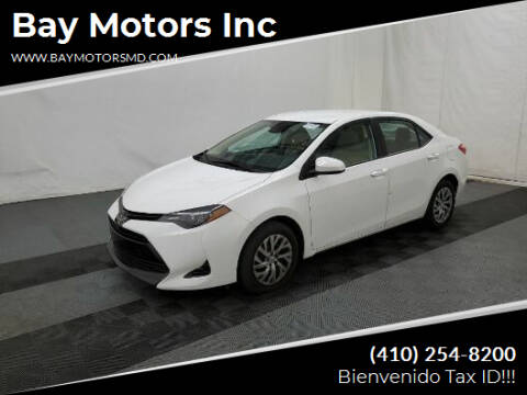 2019 Toyota Corolla for sale at Bay Motors Inc in Baltimore MD