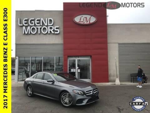 2017 Mercedes-Benz E-Class for sale at Legend Motors of Detroit - Legend Motors of Ferndale in Ferndale MI