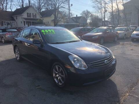 2006 Infiniti G35 for sale at Emory Street Auto Sales and Service in Attleboro MA