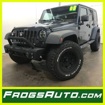 2008 Jeep Wrangler Unlimited for sale at Frogs Auto Sales in Clinton IA