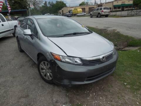 2012 Honda Civic for sale at SCOTT HARRISON MOTOR CO in Houston TX