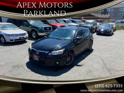 2013 Lexus CT 200h for sale at Apex Motors Parkland in Tacoma WA