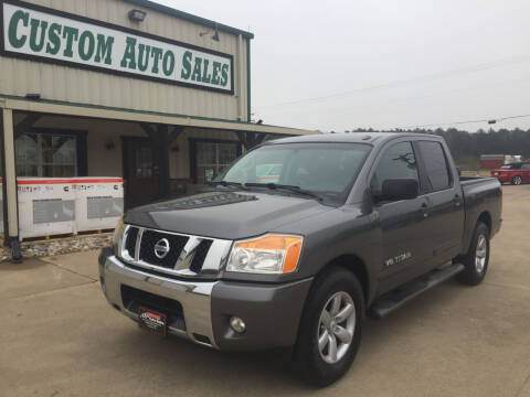 2013 Nissan Titan for sale at Custom Auto Sales - AUTOS in Longview TX