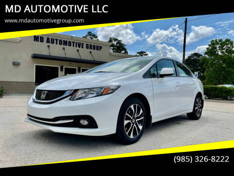 2013 Honda Civic for sale at MD AUTOMOTIVE LLC in Slidell LA