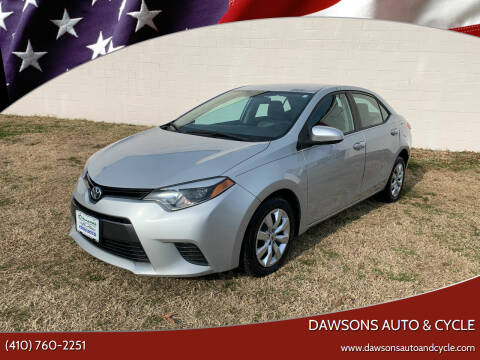2016 Toyota Corolla for sale at Dawsons Auto & Cycle in Glen Burnie MD