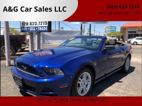 2013 Ford Mustang for sale at A&G Car Sales  LLC in Tucson AZ