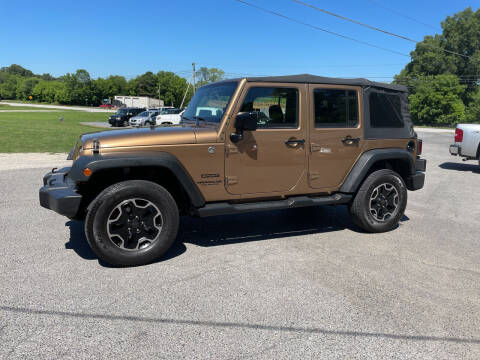 2015 Jeep Wrangler Unlimited for sale at Adairsville Auto Mart in Plainville GA