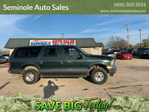 2004 Ford Excursion for sale at Seminole Auto Sales in Seminole OK