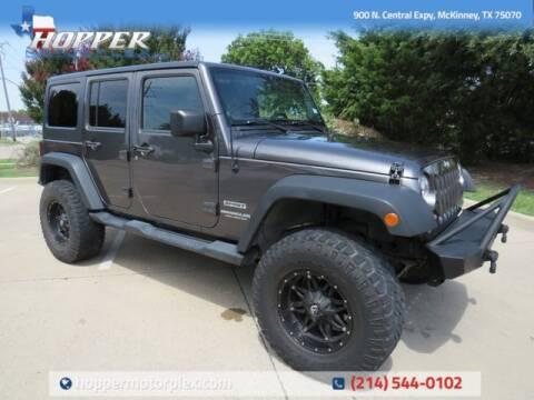 2014 Jeep Wrangler Unlimited for sale at HOPPER MOTORPLEX in Mckinney TX