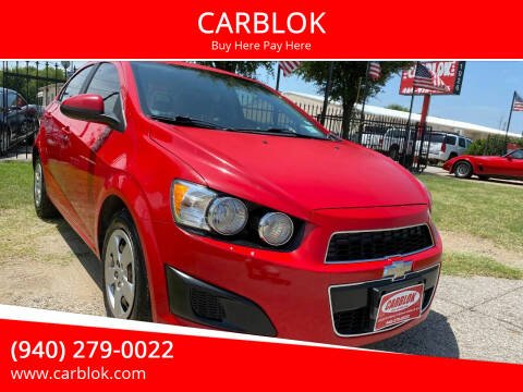 2013 Chevrolet Sonic for sale at CARBLOK in Lewisville TX