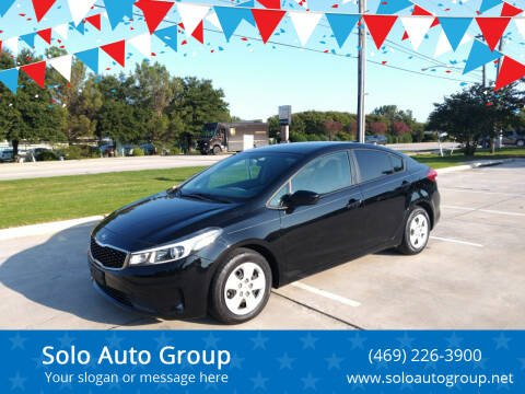 2017 Kia Forte for sale at Solo Auto Group in Mckinney TX