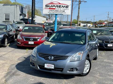 2010 Nissan Altima for sale at Supreme Auto Sales in Chesapeake VA