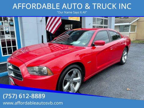 2012 Dodge Charger for sale at AFFORDABLE AUTO & TRUCK INC in Virginia Beach VA