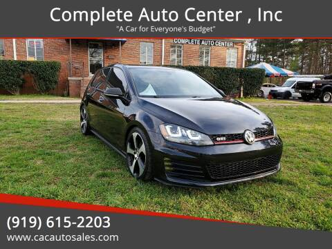 2015 Volkswagen Golf GTI for sale at Complete Auto Center , Inc in Raleigh NC