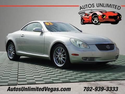 2002 Lexus SC 430 for sale at Autos Unlimited in Las Vegas NV