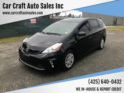 2013 Toyota Prius v for sale at Car Craft Auto Sales Inc in Lynnwood WA