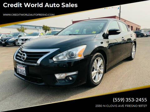2013 Nissan Altima for sale at Credit World Auto Sales in Fresno CA