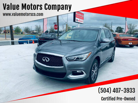 2017 Infiniti QX60 for sale at Value Motors Company in Marrero LA