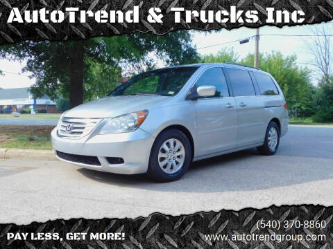 2010 Honda Odyssey for sale at AutoTrend & Trucks Inc in Fredericksburg VA