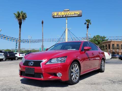 2013 Lexus GS 350 for sale at A MOTORS SALES AND FINANCE - 10110 West Loop 1604 N in San Antonio TX