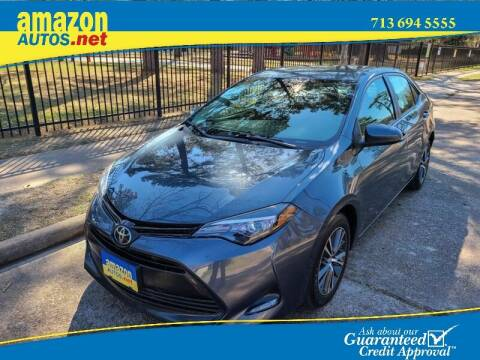 2017 Toyota Corolla for sale at Amazon Autos in Houston TX