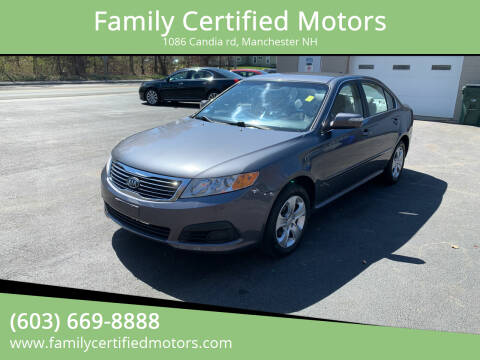 2009 Kia Optima for sale at Family Certified Motors in Manchester NH