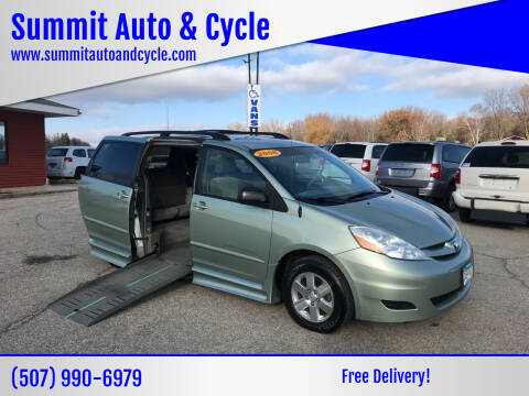 2008 Toyota Sienna for sale at Summit Auto & Cycle in Zumbrota MN