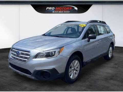 2017 Subaru Outback for sale at Pro Motors in Fairfield OH