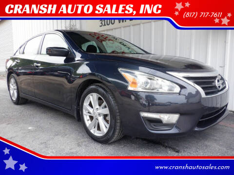 2013 Nissan Altima for sale at CRANSH AUTO SALES, INC in Arlington TX